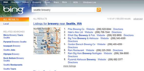 Seattle breweries on bing